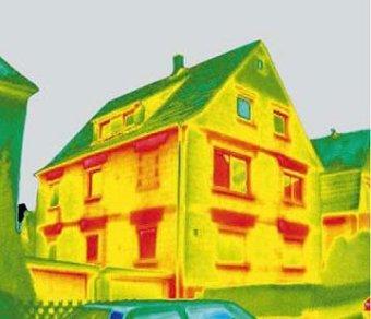 zdjęcie termowizyjne domu